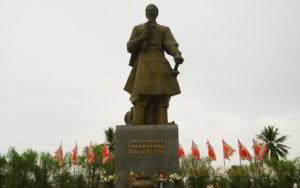 Tran Hung Dao Statue in Nam Dinh City of Vietnam